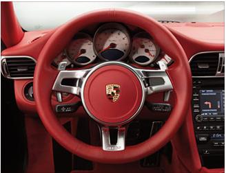 Porsche 718 Cayman S >> Volant sport design rouge carrera - Habitacle - Boxster ...